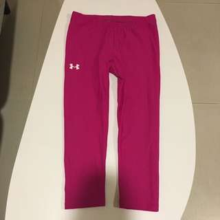 Under Armour 3/4 Length Heatgear Compression Running/ Training Tights (Berry) XS Worn Once