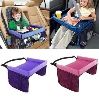 外貿原單超實用寶寶安全座椅桌子車載桌托盤畫板玩具收納桌