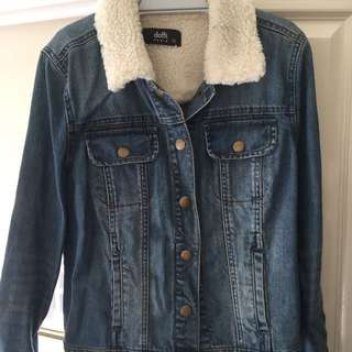 Winter Wool Denim Jacket