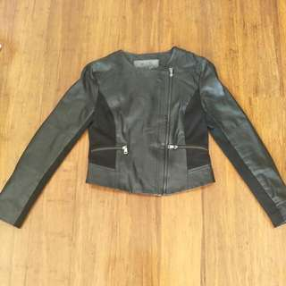 Leather Jacket.  Forever New. Size 8.