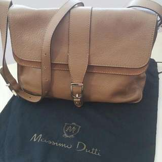 Massimo Dutti Brown Leather Bag
