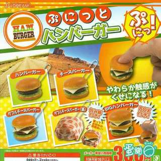捏捏漢堡扭蛋-全新未拆-原扭價賣