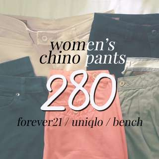 REPRICED - P 250 each Women's Chinos