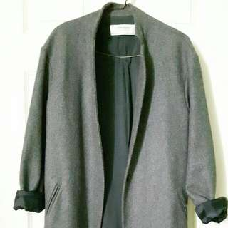 ZARA GREY OVERSIZE COAT