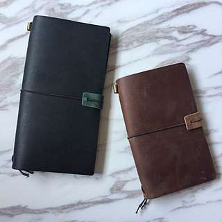Real Leather Midori Style Notebook