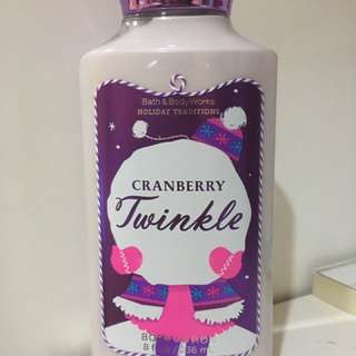 BBW Body Lotion - Cranberry Twinkle