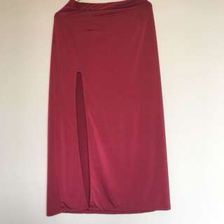 Midi Slit Skirt