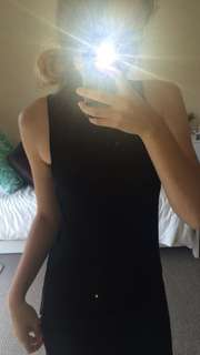 Long Black Turtle Neck Singlet