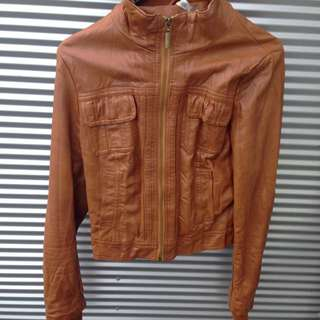 Brown Leather Jacket (primark)