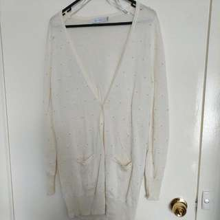 Mink Pink Cream Cardigan