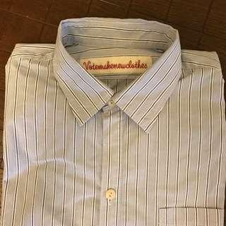 Votemakenewclothes 長版 前短後長設計襯衫