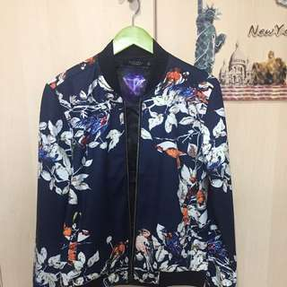 Casual jacket ., Blossom Print ., Size : Slim Fit XL .,Hong-Kong Made.,