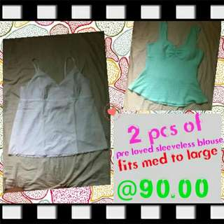 preloved sleeveless blouse