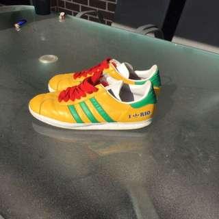 Adidas Gazelle 2 Yellow Green Leather Trainer Rio