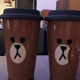 Line Friend X McCafe 熊大咖啡杯