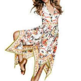 H&M Floral Asymmetrical Halter Dress