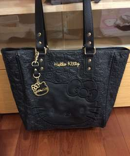 authentic Hello kitty leather tote