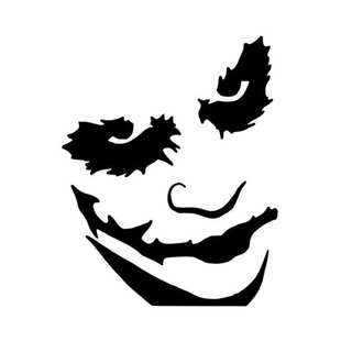 Joker Face Vinyl Decal Sticker