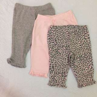 Carters 3pc Leggings