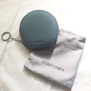 STARTOWN馬卡龍牛皮零錢包