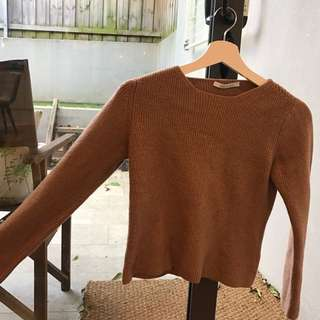 Brown Knit Jumper