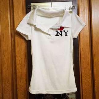 全新 polo衫 白色