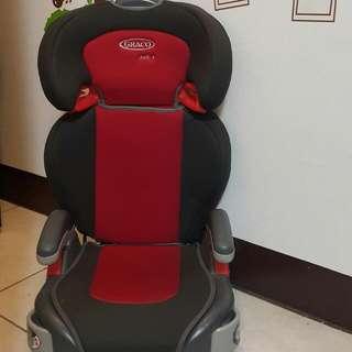 [已售出一個,還有一個] (二手) 美國 GRACO 幼童&學童成長型輔助汽車安全座椅 (左右兩邊可收納杯架+可拆洗式座墊) 3~12歲適用