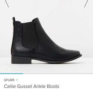 SPURR Callie Gusset Ankle Boot Black