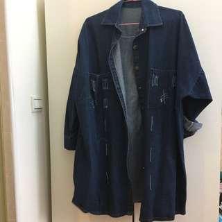 長版牛仔外套