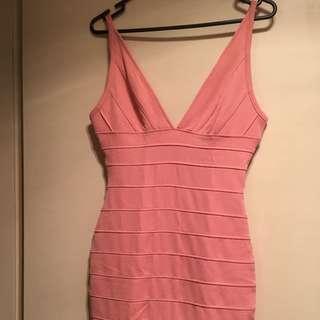 Light Pink/ Beige Bandage Dress Size S