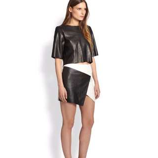 Bec & Bridge Leather Mini skirt