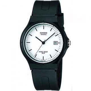 [Ready Stock] Casio MW-59 MW59 MW 59 7E Unisex Men Ladies Classic Simple Black Resin Analog with Date Display Watch New New