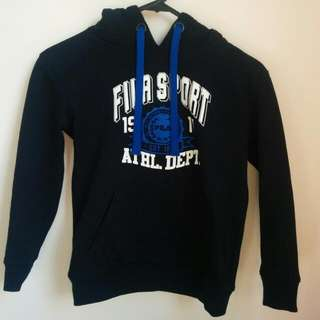 Petite Navy Blue Hoodie - Size XS