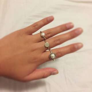 Sterling Silver Ring with Silver Circle