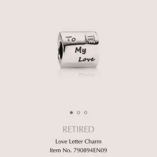 Pandora Charm Love Letter Silver