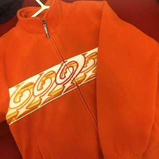 Vintage 古著 火焰 橘 毛毛 外套