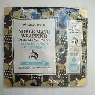 Masker Korea: Noble Mayu. Relaxing Mask. Masker+Pelembap, 2 pcs