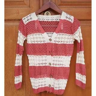 Preloved Stripey Knit Cardigan