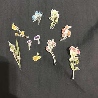 復古花朵 紙膠帶貼紙