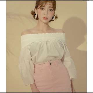 Korean 'Chuu' White Shirt
