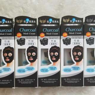 NEW CHARCOAL MASK CREAM - MASKER ARANG ANTI BLACKHEAD