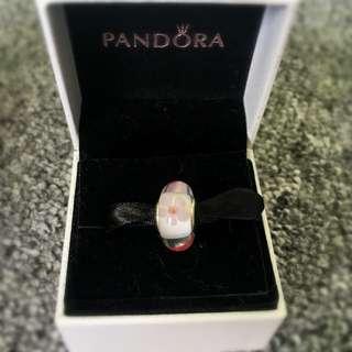 Pandora Flower Pink Murano Glass Charm