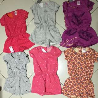 Bobokids Jumpsuit Pendek / Baju Anak Perempuan Branded