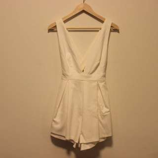 Princess Polly No Doubt Playsuit in White Sz 8/10 S