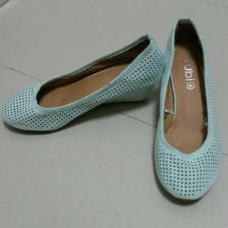 Turquoise Low Wedges
