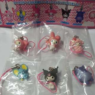 Yujin Capsule Toy - My Melody Mini Mascot Set (6 Pcs)(EY03)