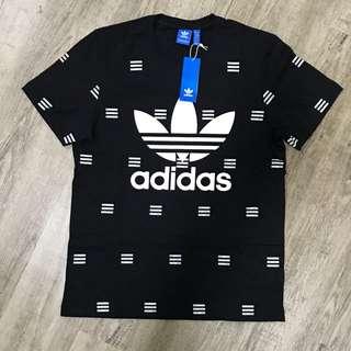 Adidas 3 Stripes Trefoil Logo Black T-shirt Size L