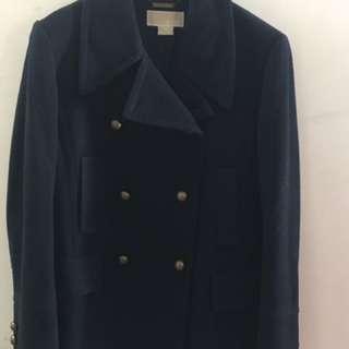 Michael Kors Navy Blue Pea Coat Large