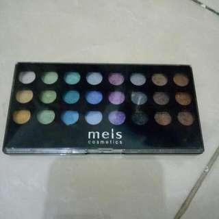 Eyeshadow Palette Meis Cosmetics / Eyeshadow Palet / Eyeshadow Glitter / Eyeshawod Daily / Makeup Tools