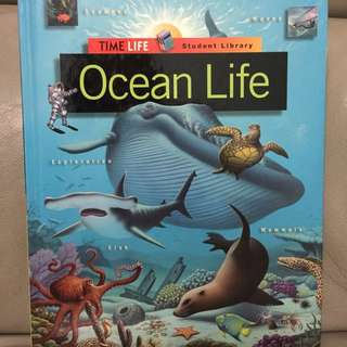 Hard Cover Book On Ocean Life